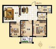 鼓浪屿小镇3室2厅1卫106平方米户型图