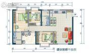 鑫海大厦2室2厅1卫88--113平方米户型图