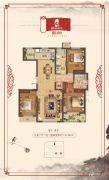 国宅华府西院3室2厅2卫0平方米户型图
