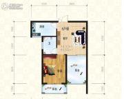 锦天・生态城1室1厅1卫51平方米户型图