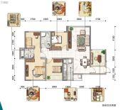 东岸阳光3室0厅0卫132平方米户型图