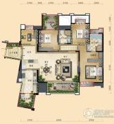 三利云锦4室2厅2卫148平方米户型图