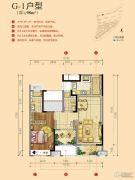 世茂天樾2室2厅2卫98平方米户型图