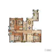 首开铂郡4室3厅3卫196平方米户型图