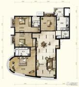 新华联运河湾4室2厅3卫192平方米户型图
