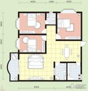 祥安花园3室2厅2卫125平方米户型图