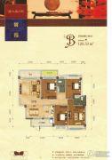 碧园・大城小院4室2厅2卫120平方米户型图