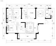 恒伟・湘江时代4室2厅2卫128平方米户型图