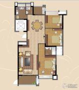 香景雅园3室2厅2卫120--130平方米户型图