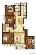 中垠紫金观邸4室2厅2卫121平方米户型图
