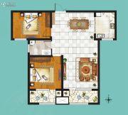 鸿泰・花漾城2室2厅1卫110平方米户型图