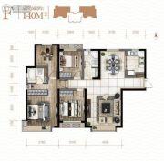 新城吾悦广场4室2厅2卫0平方米户型图