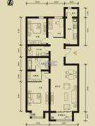 九星国际e世界3室2厅2卫135平方米户型图