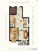 天和嘉园1室2厅1卫71平方米户型图