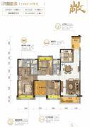 伦教碧桂园4室2厅3卫137平方米户型图