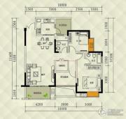 兴茂盛世国际3室0厅2卫90平方米户型图