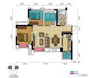 三盛都会城3室2厅1卫75--84平方米户型图