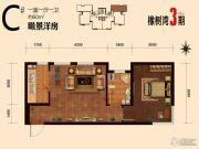华润橡树湾1室1厅1卫60平方米户型图