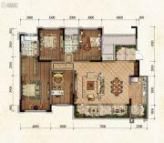 国博城4室2厅2卫141平方米户型图