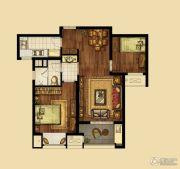 海峡城2室2厅1卫80平方米户型图