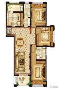 优山美地3室2厅2卫0平方米户型图