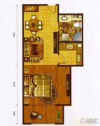 红海湾皇家海岸一期1室1厅1卫50平方米户型图