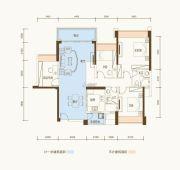 恒基五洲家园3室2厅2卫109平方米户型图