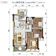 碧桂园湖光山色3室2厅1卫94平方米户型图