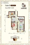听涛苑2室1厅1卫85平方米户型图