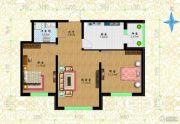 黎明荣府2室1厅1卫57平方米户型图