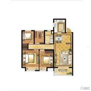 中海世纪公馆4室2厅1卫96平方米户型图