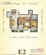 元森北新时代2室2厅2卫150平方米户型图