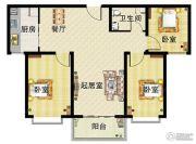 懋鑫福城3室2厅1卫0平方米户型图