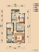 浪琴湾2室1厅2卫93平方米户型图