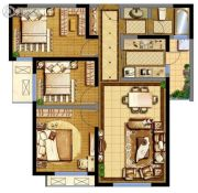 德杰・德裕天下3室2厅1卫98平方米户型图
