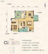 罗马中心城2室2厅2卫116平方米户型图