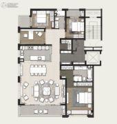 万科美景世�d4室2厅2卫200平方米户型图