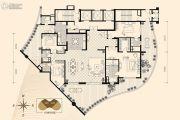 龙湖世纪峰景4室2厅4卫380平方米户型图
