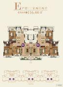 恒大帝景(备案名:聚亨景园)3室2厅2卫116平方米户型图