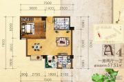 英华东方河畔1室2厅1卫58平方米户型图