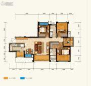 绿地中心云玺4683室2厅2卫129平方米户型图