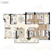 广州亚运城4室2厅2卫130平方米户型图