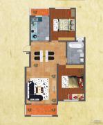 友谊嘉御龙庭2室2厅1卫115平方米户型图
