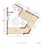 合正东部湾1室1厅1卫90平方米户型图