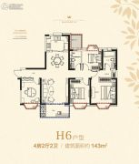 金象・朗诗红树林3室2厅1卫89平方米户型图