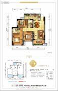 美宇白马湖水街3室2厅2卫105平方米户型图