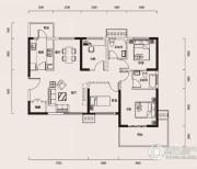 幸福时代4室1厅2卫127平方米户型图