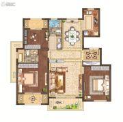 月桥花院3室2厅2卫116平方米户型图