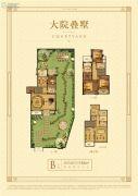 德信・鹿城大院4室2厅3卫150平方米户型图