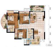 城中央3室2厅2卫83平方米户型图